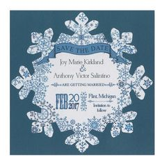 "This 6 1/4"" snowflake is the perfect size to stand alone or to mat. Your winter wedding will be off to a stunning start."