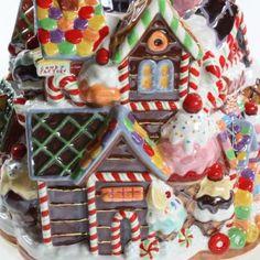 christopher radko gingerbread | Christopher Radko RARE Gingerbread Lane House Mansion Ceramic Cookie ...