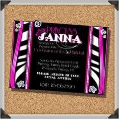 SALE Diva Princess Birthday Party Invitation by FoundItCards