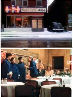a christmas story 1983 waiters in chinese restaurant singing deck the harrs - Christmas Story Chinese Restaurant Scene