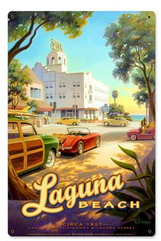 Laguna Beach Metal Sign 12 x 18 Inches