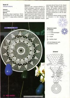 "Photo from album ""Moje robotki on Yandex. Crochet Diagram, Crochet Motif, Crochet Doilies, Crochet Stars, Crochet Circles, Crochet Stitches Patterns, Doily Patterns, Yarn Crafts, Diy And Crafts"