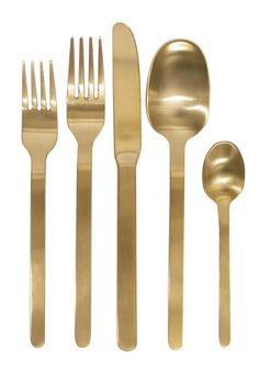 Domino Gold Cutlery Set. via The Cools