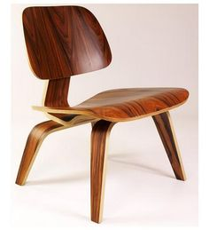 """he design Time called """"the best design of the 20th century"""" has certainly endured well into the 21st century.* The Eames Molded Plywood Chair is a staple of mid-century modern furnishings. It was designed by Charles and Ray Eames in 1946 for Herman Miller. The following quote is so great I am going to crib it straight from Herman Miller's site:  """"Time called the design 'something elegant, light and comfortable.  - £149"""