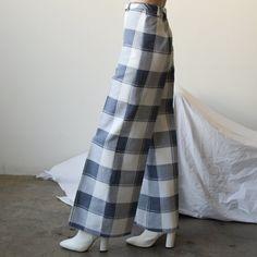 "@persephonevint's Instagram photo: ""wide leg check (sold)"" Wide Leg, Legs, Check, Instagram, Dresses, Vestidos, Dress, Gowns, Bridge"