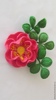 TRICO and CROCHET-madonna-mine: Poppies in Crochet -step by step photographs