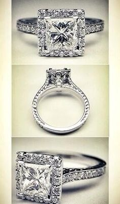 It's all about the bling. I intend to get married once, so make the ring count.
