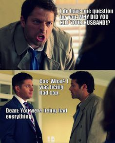 Let's just appreciate Cas's face right here guys. That's like pure Castiel with him still being Cas.