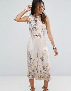 Free People Island Time Asymmetrical Jumpsuit at asos.com