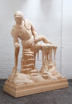 More Morgan Herrin Awesomeness. Artist Morgan Herrin Transforms Construction Grade Lumber into Surreal Classical Sculptures wood sculpture. Art Sculpture, Hand Carved, Carved Wood, All Art, Wood Art, Contemporary Art, Art Pieces, The Incredibles, Creative