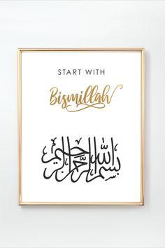 Bismillah Calligraphy, Islamic Art Calligraphy, Welcome Quotes, Ramadan Crafts, Islamic Wall Art, Frame Crafts, Online Print Shop, Alhamdulillah