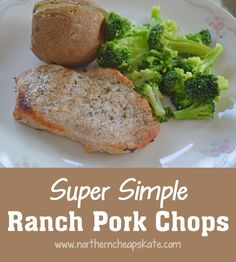 This super simple ranch pork chops recipe is great for those busy ...