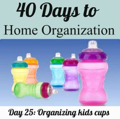 The easiest way to organize sippy cups, plastic cups & sports water bottles