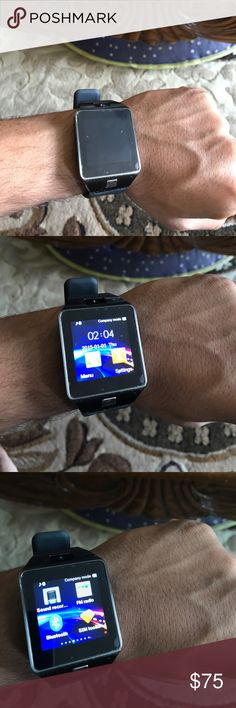 Smart Watch New Smart Watch, never been used. Has a camera in watch, Bluetooth capability. Great watch and addition to you closet. smart watch Accessories Watches