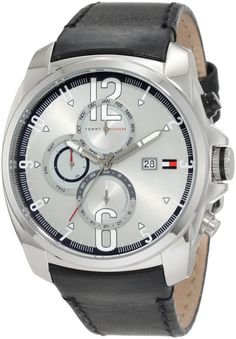 Men's Wrist Watches - Tommy Hilfiger Mens 1790833 Sport Stainless Steel and black strap with Multifunction dial Watch *** Read more at the image link. Cool Watches For Women, Tommy Hilfiger Watches, Watch Brands, Stainless Steel Case, Black Leather, Wrist Watches, Men's Watches, Sport, Image Link