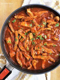 Polish Recipes, Polish Food, Barbecue Sauce, Ratatouille, Paella, Curry, Pork, Pudding, Dinner