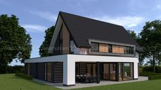 Villa in Veenendaal - Lilly is Love Modern Bungalow House, Modern House Plans, Pyramid House, Roof Terrace Design, Bungalow Renovation, Luxury Homes Dream Houses, Dream House Exterior, Architect House, Villa