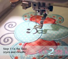 Multi Step Embroidery tutorial with free design :)