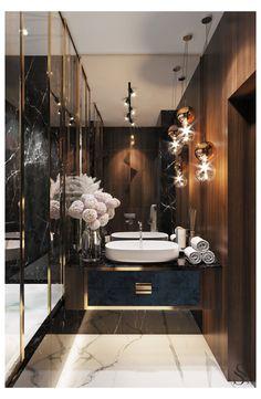 Guest bathroom Guest bathroom repeats the overall style of the apartment. ~ Guest bathroom repeats the overall style of the apartment. Bathroom Design Luxury, Modern Bathroom, Home Interior Design, Master Bathroom, Bath Design, Tile Design, Minimal Bathroom, Lobby Interior, Master Baths