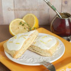 The Sweet Chick: Lemon Thyme Scones with a Lemon Cream Cheese Glaze