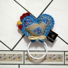 porta toalha, galinha azul www.gostodefazer.com