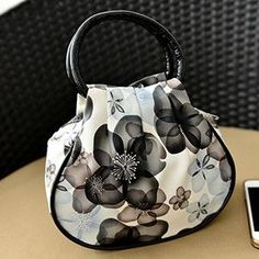 New Hot 1 Pcs Fashion PU Leather Small Handbag for Mom Floral Prints Phone Bag Women Hand Bags Free Shipping
