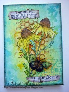 Astrid's Artistic Efforts: Spring Colours for A Vintage Journey