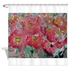 Poppies! Floral art! Shower Curtain for