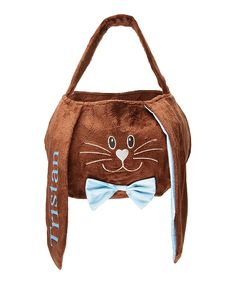 Take a look at this Brown & Blue Personalized Floppy Ear Basket  today!  12.99