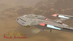 Landing of the Batavia (Nova-class) - Star Trek Dark Armada