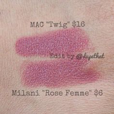Mac Twig vs Milani Rose Femme! Such a beautiful color and an affordable price. Surprisingly, Milani is more comfortable to wear!