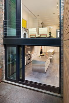 brilliantly opened up & tweaked West Village townhouse now affords the feeling of much more space... by; Lubrano Ciavarra architects