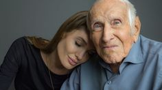 Angelina Jolie Poses With 'Unbroken' Inspiration Louis Zamperini