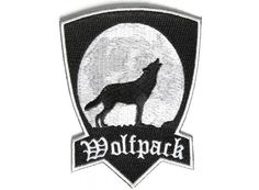 """Wolf Pack Patch Wolfpack Brotherhood for Biker Motorcycle vest jacket size 4"""""""
