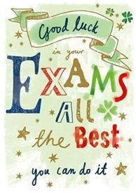 Picture of Good Luck Card - Exams - Large Text Exam Good Luck Quotes, Exam Wishes Good Luck, Best Wishes For Exam, Good Luck For Exams, Exam Quotes, Good Luck Cards, Good Luck To You, Sign Quotes, Stamps