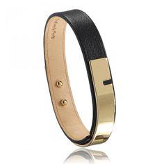 Ladies polished U-Turn black bracelets - Ursul Trendy Bracelets, Black Bracelets, U Turn, Polish, Lady, Leather, Men, Jewelry, Vitreous Enamel