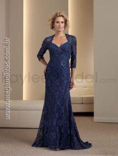 vestidos de festa de renda para senhoras de 50 anos