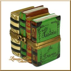 Stack of Books History of France Limoges Box (Retired)