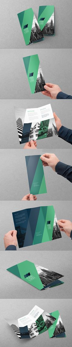 Clean Modern Green Blue Trifold. Download here: http://graphicriver.net/item/clean-modern-green-blue-trifold/11225278?ref=abradesign #trifold #brochure #design: