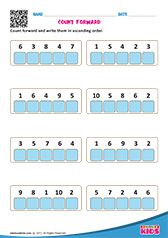 COUNT FORWARD & BACKWARD First Grade Math Worksheets, Kindergarten Worksheets, Clock Games For Kids, Maths, Kids Learning, Counting, Numbers, Writing, Everything