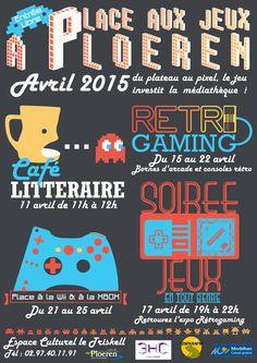 Affiche rétro gaming - créée par Cilette