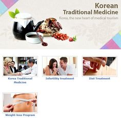 http://english.visitkorea.or.kr/enu/SI/SI_EN_3_3_10.jsp Korea is the new heart of medical tourism, where engaged in Korean traditional medicine, infertility treatment, disk treatment, and weight-loss program. Some visitors are traveling Korea for medical tour as well.