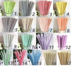 Chevron Paper Straws 150 Paper Straws, $19.95. Great for a rehearsal dinner or reception with Mason Jars, glass bottled Coke and Diet Coke!