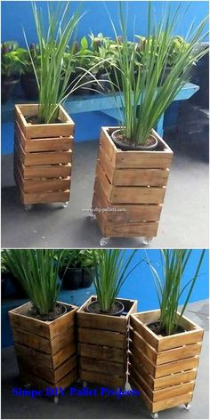 Rustic and lots artistically, this pallet planter design is what bringing you ou. - Rustic and lots artistically, this pallet planter design is what bringing you out to make it part of - Log Planter, Wood Pallet Planters, Winter Planter, Tiered Planter, Diy Planter Box, Fence Planters, Indoor Planters, Skull Planter, Planter Ideas