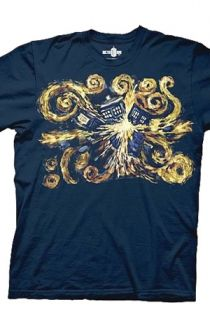 76e6203d49 Look at this Navy Blue Van Gogh Pandorica Opens Tee - Adult on today!