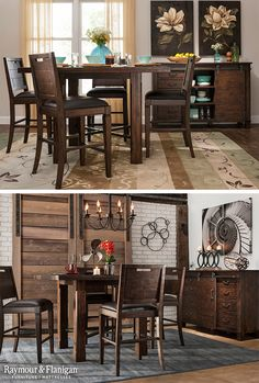 Style, comfort and convenience are three key components you'll find in the Shelton collection. What immediately catches the eye is this set's gorgeous distressed wood finish, enhanced subtly by antiqued metal accents that introduce a touch of industrial style.
