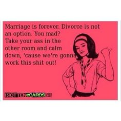 Marriage is forever, let`s work it out