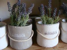 Črepník na bylinky BONHEUR šedý | Vidieckedekoracie