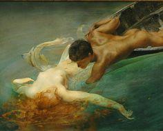artemisdreaming:    La sirena    Giulio Aristide Sartorio