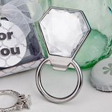 Bling Collection diamond ring bottle openers - great for your #wedding #shower decor -  http://www.favorfavor.com/page/FF/CTGY/New?Sort_By=newest